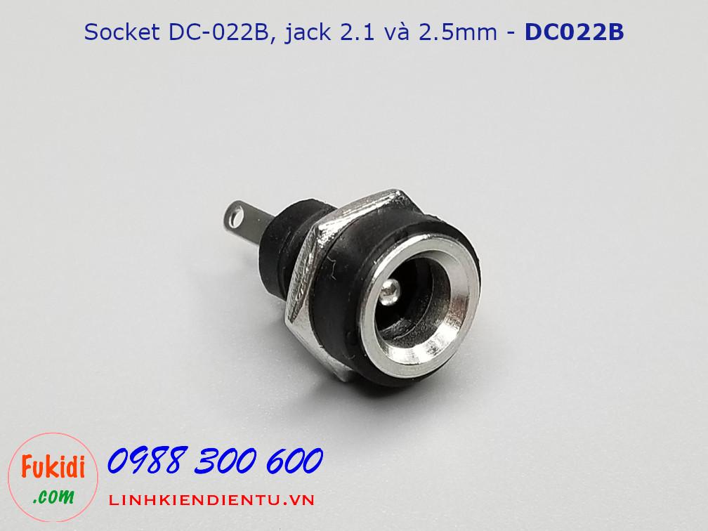 Socket DC-022B dùng cho chuẩn 2.1 và 2.5mm - DC022B