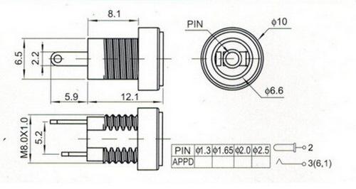 Socket DC-022 dùng cho chuẩn 2.1 và 2.5mm - DC022