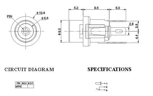 Socket DC-025 dùng cho chuẩn 2.1 và 2.5mm - DC025