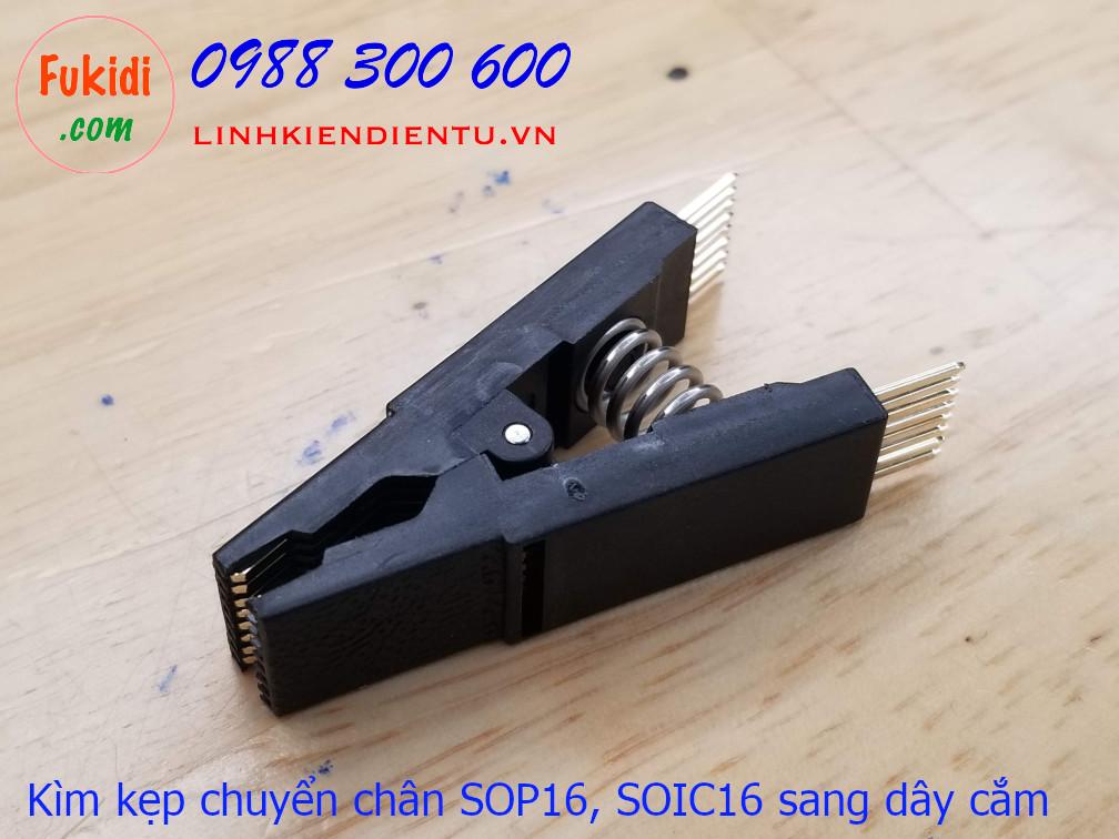 BIOS SOP16 SOIC16 Straight Test Clip and Bent - kìm kẹp IC SOP16 để test chương trình