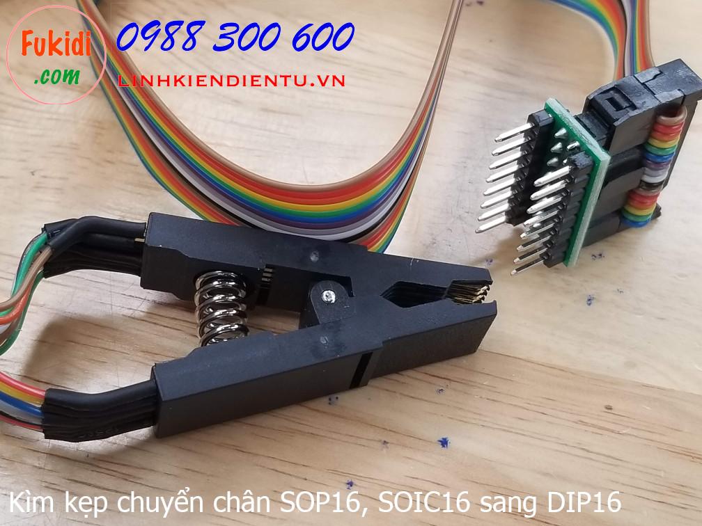 Kìm kẹp chuyển đổi chân đế IC từ SOP16 hoặc SOIC16 sang DIP16