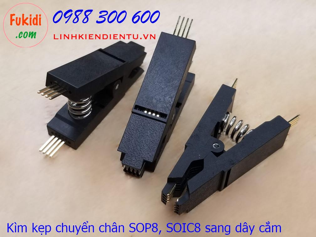 Kìm kẹp chuyển đổi chân đế IC từ SOP8 hoặc SOIC8 sang dây cắm hoặc DIP8