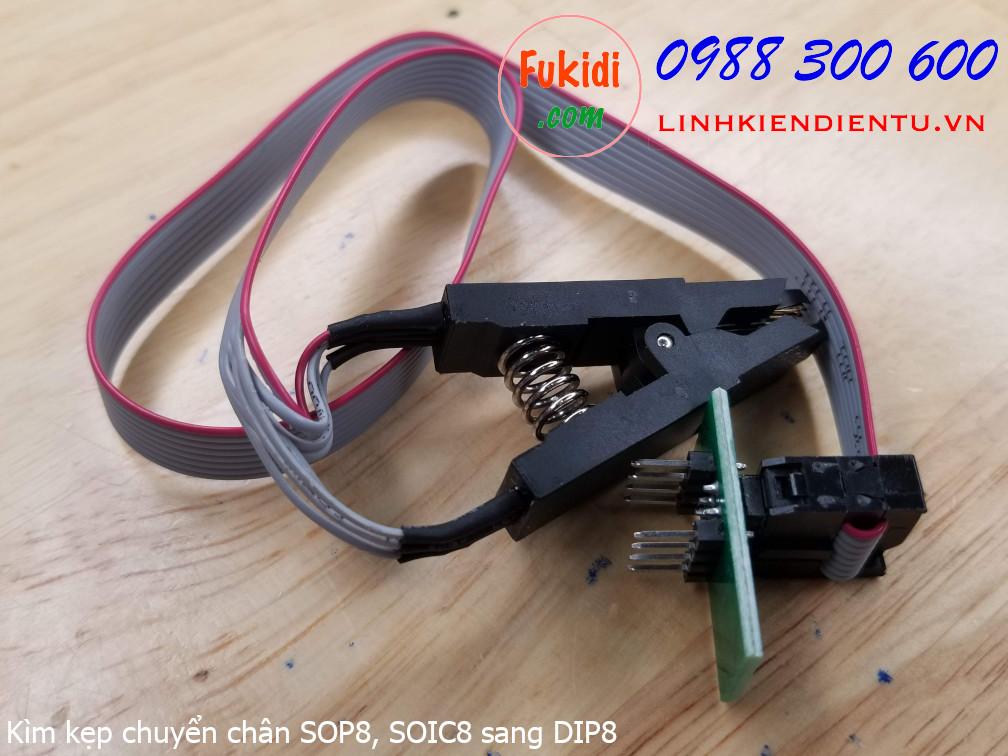 Kìm kẹp chuyển đổi chân đế IC từ SOP8 hoặc SOIC8 sang đế IC DIP8