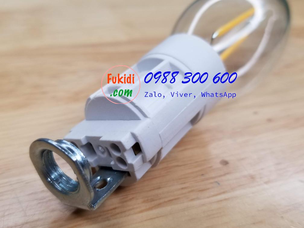 Chui đèn E14 kiểu vặn, dùng cho đèn LED dạng nến pha lê, đèn trang trí