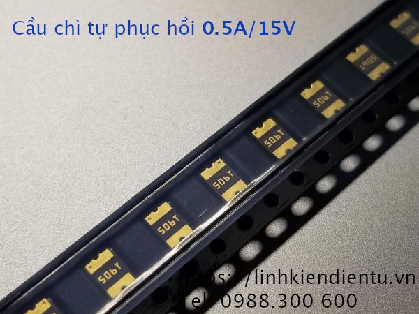 Cầu chì tự phục hồi PPTC SMDC050F 0.5A/15V