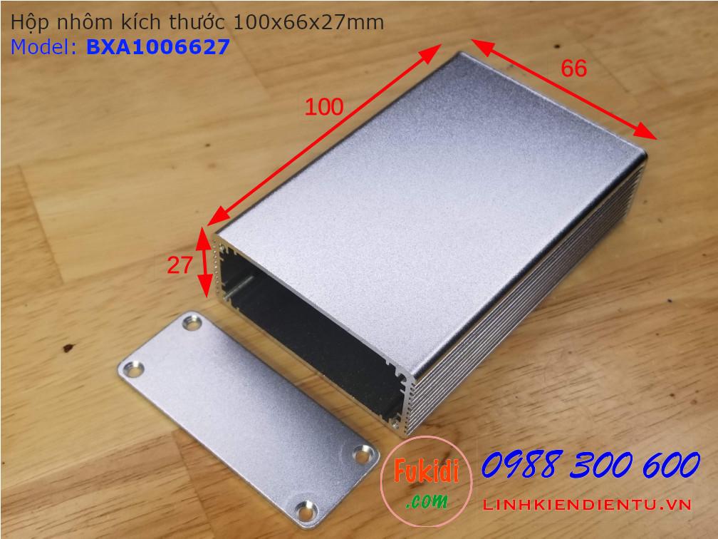 Hộp nhôm kích thước 100x66x27mm model BXA1006627