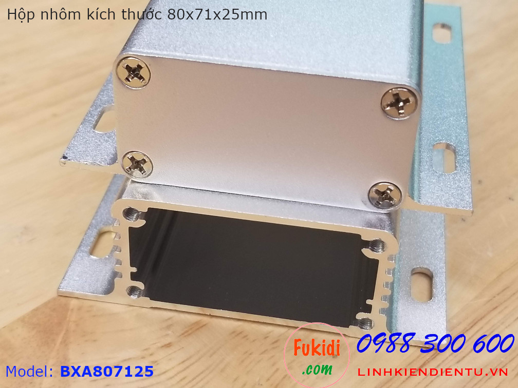 Hộp nhôm kích thước 80x71x25mm Model BXA807125