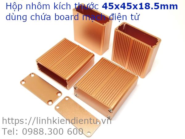 Hộp nhôm 45x45x18.5mm, màu vàng