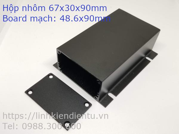 Hộp nhôm 67x30x90mm chứa mạch điện 48.6x90mm