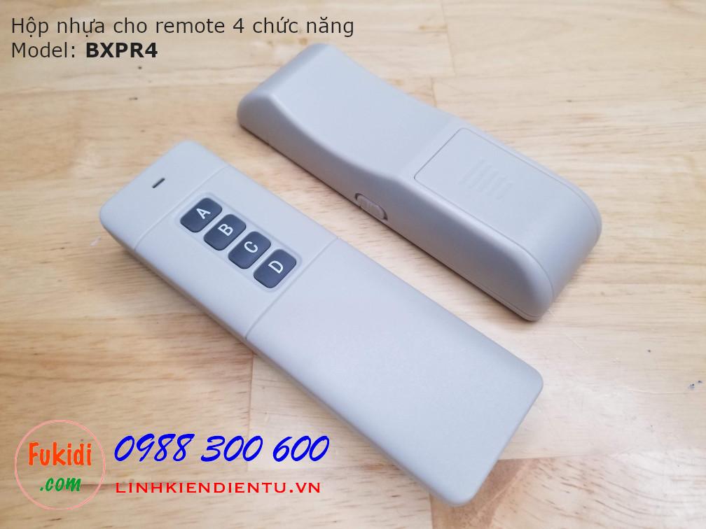 Vỏ nhựa dùng cho remote bốn chức năng phát xa 3000m BXPR4
