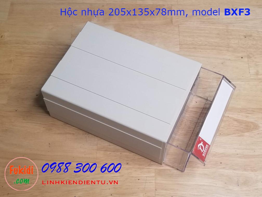 Hộc nhựa, hộp nhựa đa năng size 205x135x78mm model BXF3