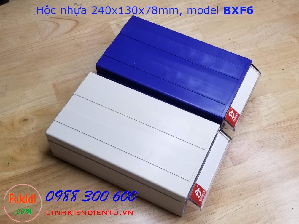 Hộc nhựa, hộp nhựa đa năng size 240x130x78mm model BXF6