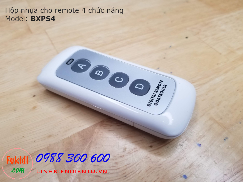 Vỏ nhựa dùng cho remote bốn chức năng phát xa BXPS4