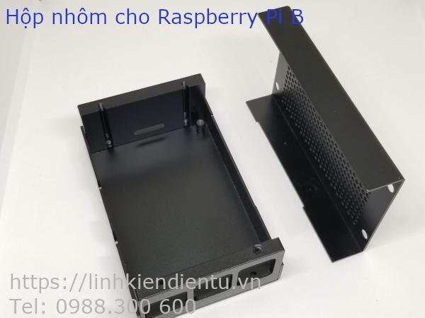 Hộp nhôm chuyên dụng cho Raspberry Pi B (B2, B3, B3+) - hai mảnh ghép