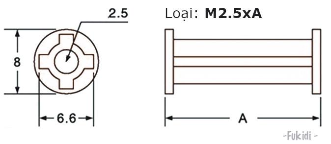 Trụ đỡ PCB, trụ cách ly board mạch điện tử M2.5x30mm