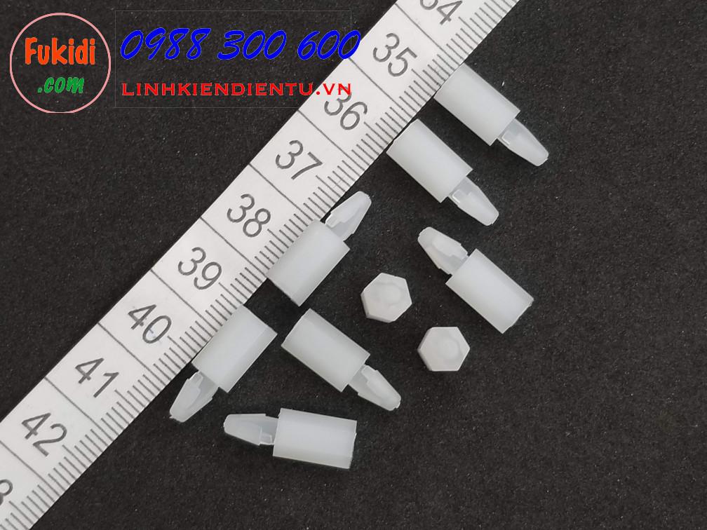 Trụ lục giác khóa mạch in, đầu nhọn VM3x10mm
