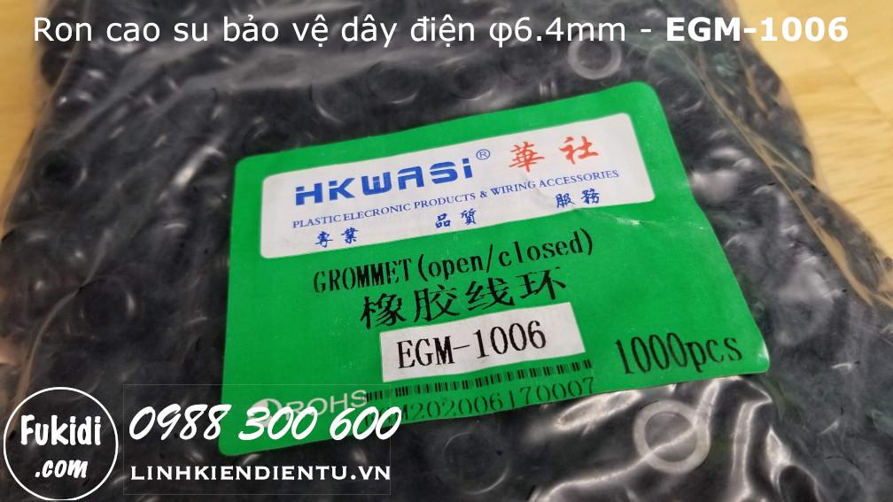 Vòng đệm, ron cao su bảo vệ dây phi 6.4mm EGM-1006 - EGM1006