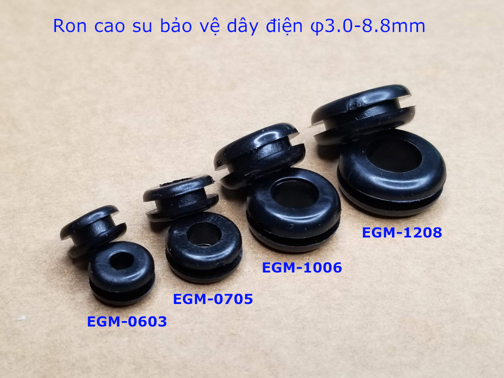 Vòng đệm, ron cao su bảo vệ dây phi 3mm EGM-0603 - EGM0603