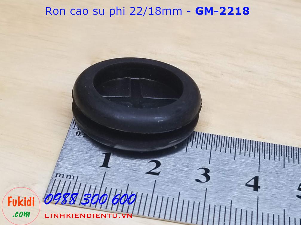 Vòng đệm, ron cao su cho dây điện phi 22mm, luồn dây 18mm dày 9mm - GM2218