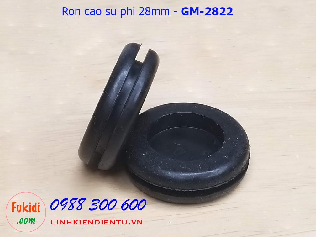 Vòng đệm, ron cao su phi 28mm, luồn dây 22mm dày 9mm GM-2822 - GM2822