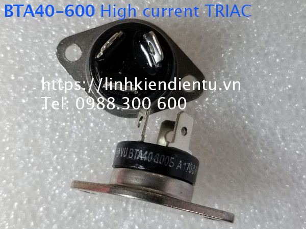 BTA40-600: High current TRIAC