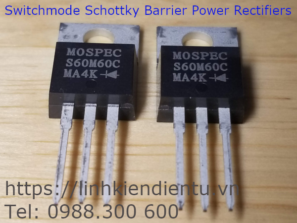 S60M60C Switchmode Schottky Barrier Power Rectifiers