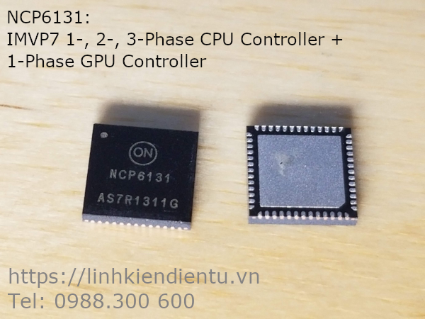 NCP6131: IMVP7 1-, 2-, 3-Phase CPU Controller + 1-Phase GPU Controller
