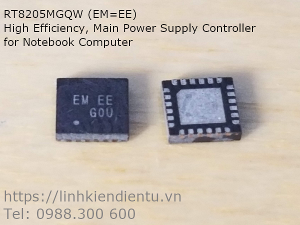 RT8205MGQW (EM=EE) High Efficiency, Main Power Supply Controller for Notebook Computer