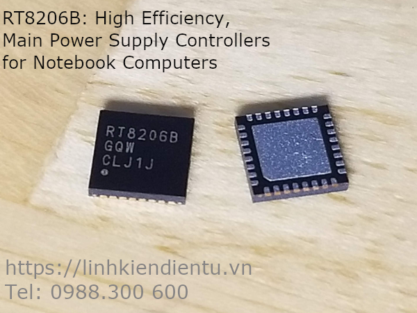 RT8206B: High Efficiency, Main Power Supply Controllers for Notebook Computers