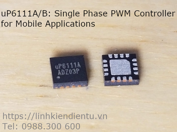 uP6111A/B Single Phase PWM Controller for Mobile Applications