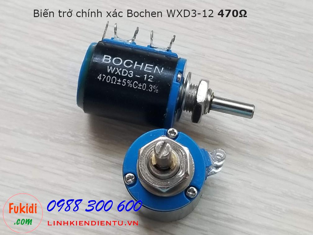 Biến trở chính xác Bochen WXD3-12 470Ω