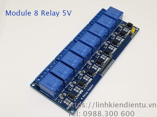 Module 8 Relay 5V, dùng cho Arduino