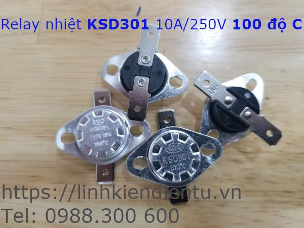 Relay nhiệt KSD301 250V/10A 100°C