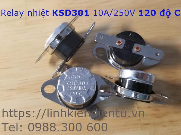Relay nhiệt KSD301 250V/10A 120°C
