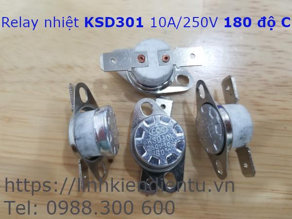 Relay nhiệt KSD301 250V/10A 180°C