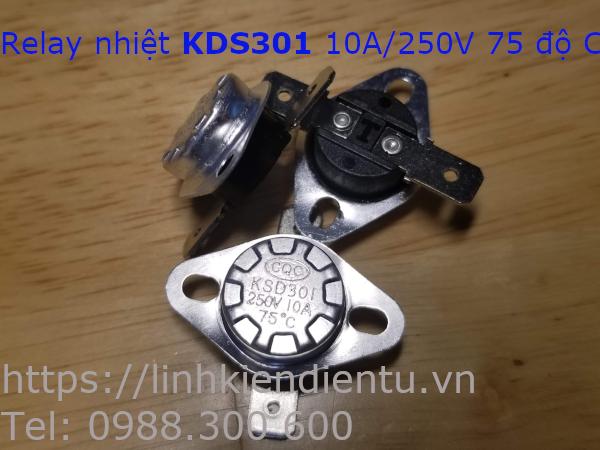 Relay nhiệt KSD301 250V/10A 75°C