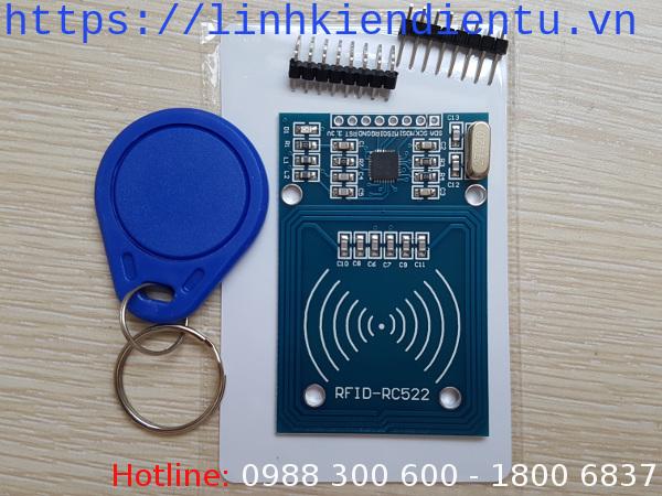 Bộ đọc thẻ RFID NXP RC522 13.56MHz và 2 rfid tags