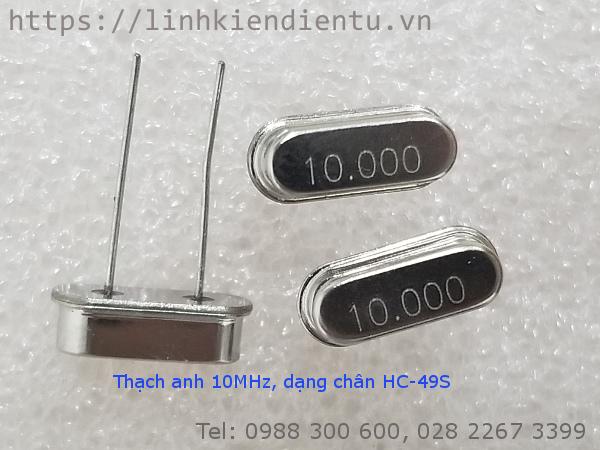 Thạch anh 10MHz, chân HC-49S