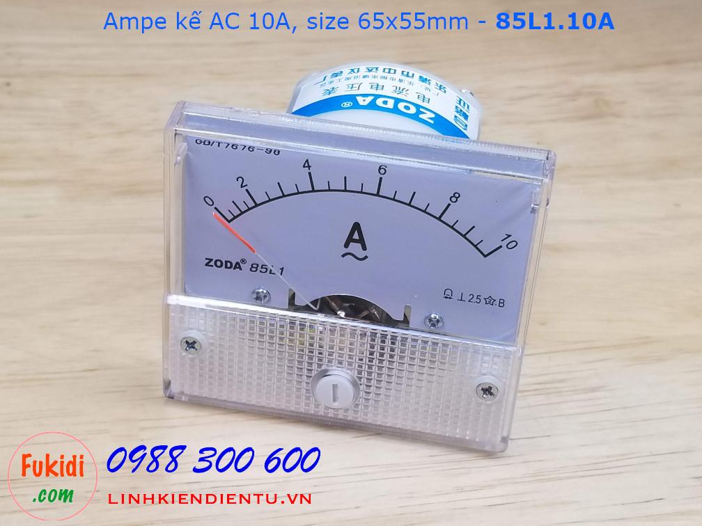 Ampe kế AC 10A - 85L1.10A, size 65x55mm