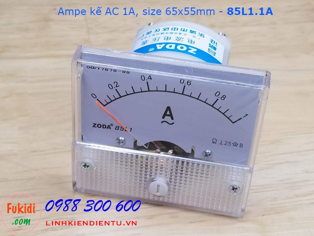 Ampe kế AC 1A - 85L1.1A, size 65x55mm