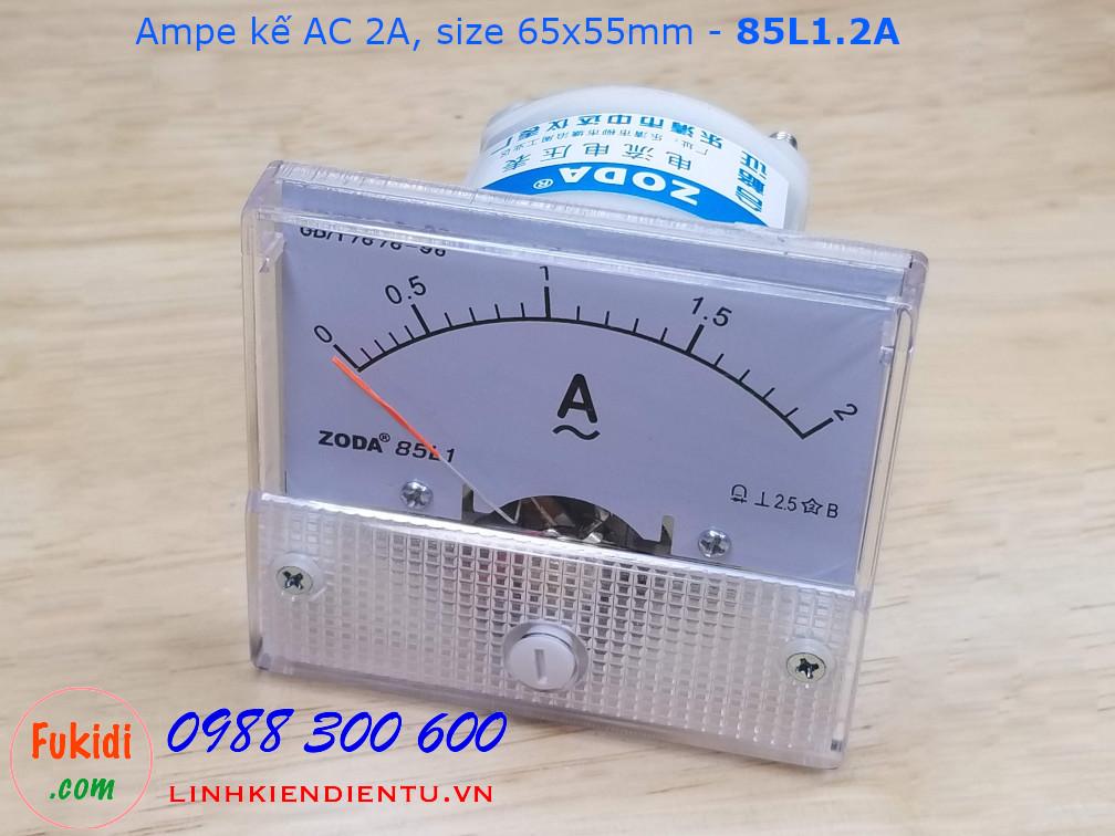Ampe kế AC 2A - 85L1.2A, size 65x55mm
