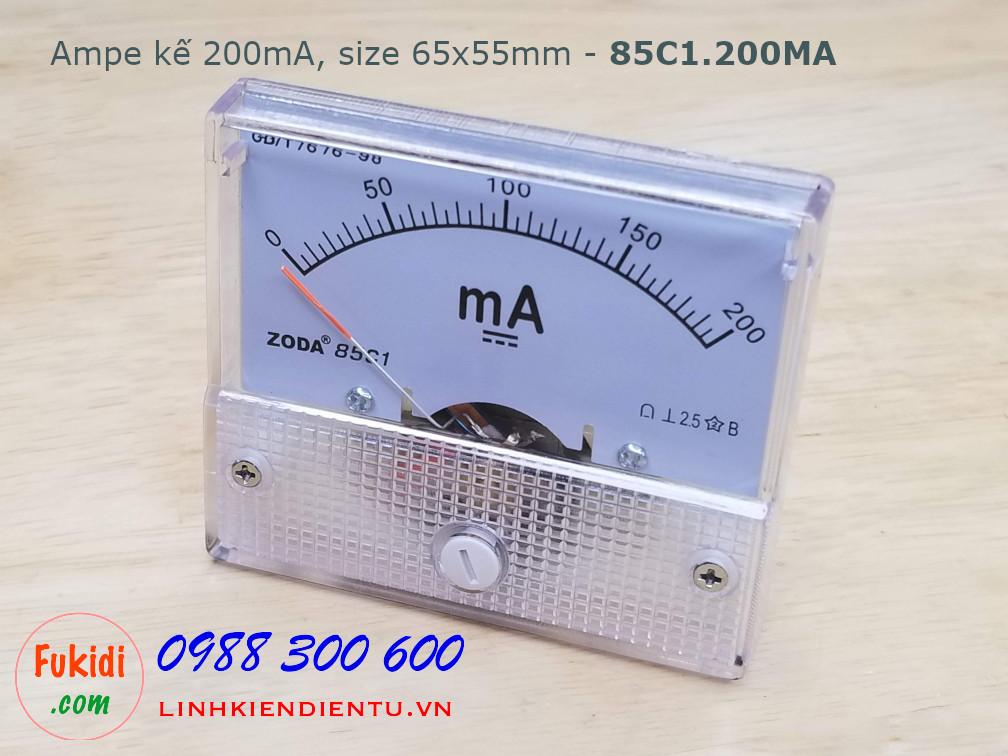 Ampe kế DC 200mA 85C1 đo dòng điện DC 200mA - 85C1.200MA