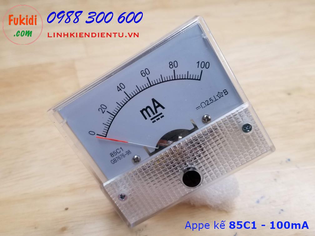 Ampe kế 85C1 đo dòng điện DC với tầm đo từ 0 đến 100mA