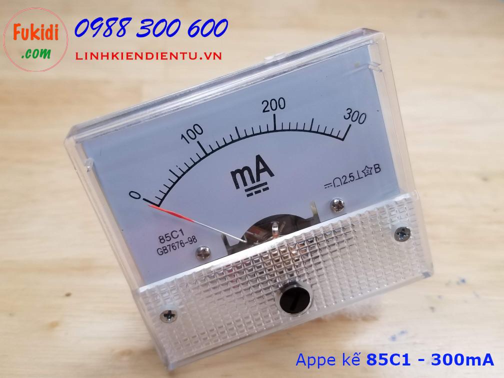 Ampe kế 85C1 đo dòng điện DC với tầm đo từ 0 đến 300mA