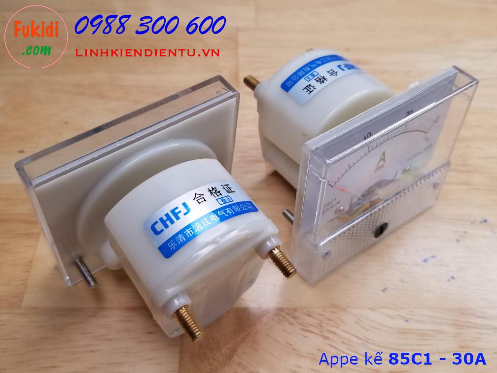 Ampe kế 85C1 đo dòng điện DC với tầm đo từ 0 đến 30A