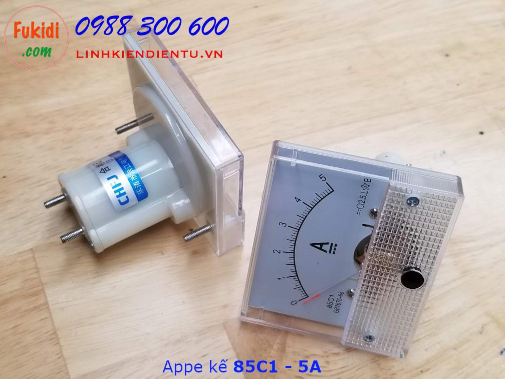 Ampe kế 85C1 đo dòng điện DC với tầm đo từ 0 đến 5A