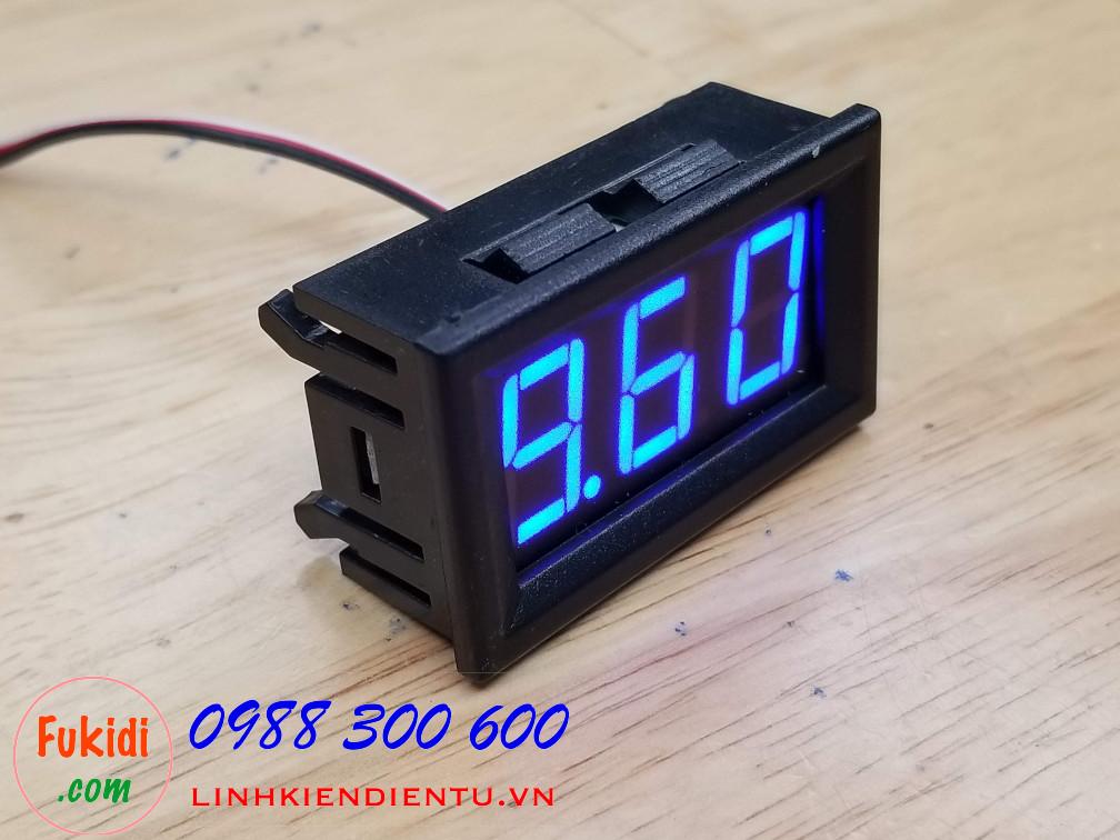 Đồng hồ đo điện áp từ DC 0-30V hiển thị LED màu xanh lục