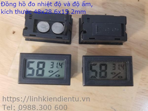 Máy đo nhiệt độ và độ ẩm hiển thị LCD