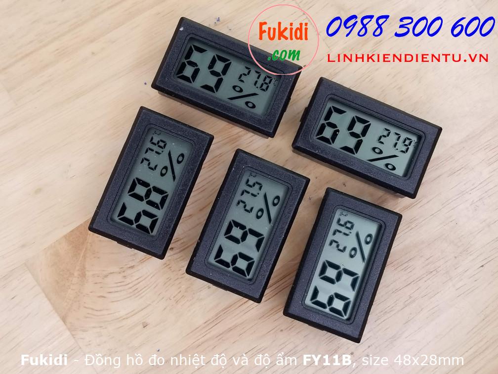 Nhiệt kế và ẩm kế, đồng hồ đo nhiệt độ và độ ẩm hiển thị LCD FY11