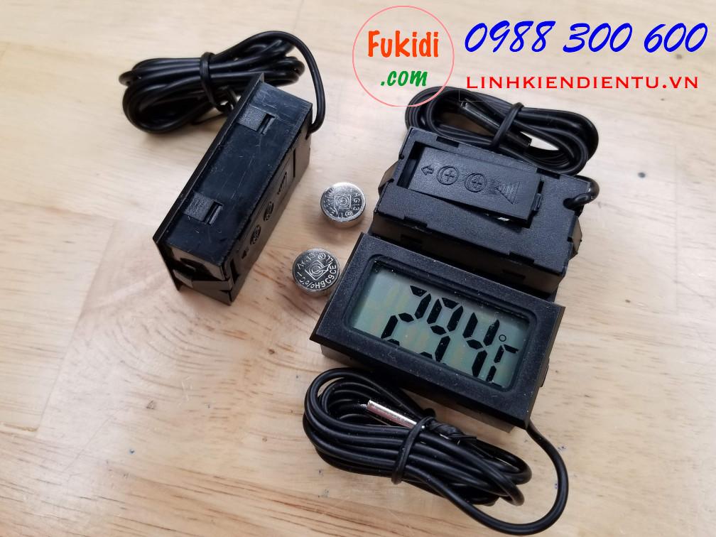 Nhiệt kế điện tử, đồng hồ đo nhiệt độ có đầu dò nhiệt dài 1mm TPM-10